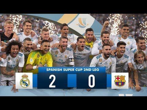 Real Madrid 2 0 Barcelona Hd 1080i Spanish Super Cup Full Match