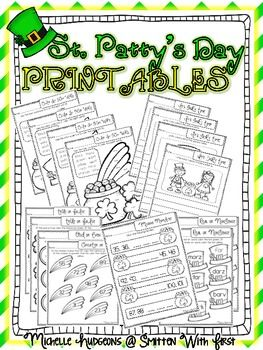 This 20 page FREE download includes printables to use during the month of March! Some of the printables are perfect to use for a review of a skill or in centers/stations. Here's what's included:-Color by Sight Word {4 pages using pre primer, primer, and 1st grade dolch sight words...great for centers/stations}-It's Story Time {4 separate writing pages with pictures for students to write about...great for centers/stations}-True or False {addition and subtraction}-Odd or Even {with numbers to…
