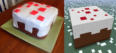 I've never played the game but I made this cake for a Minecraft obsessed friend it was surprisingly easy to make the fondant, but hard to make everything square