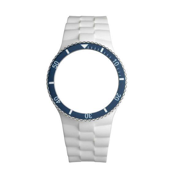 Bracelete Anjewels POPX Branca/Azul 43 mm - AW.BPXAB