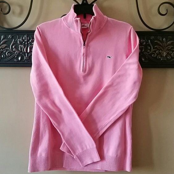 VINEYARD VINES PULLOVER Like new worn only twice.   Pink Vineyard Vines pullover.   Perfect condition. Vineyard Vines Tops Tees - Long Sleeve