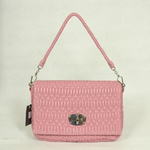 Miu Miu Pink Lambskin Shoulder Bags      Size: W30 x H22 x D7(cm)     Color:Pink     Made of real leather     100% top quality     Brand New With Original Box     No Sales Tax     7-Day Return Policy     100% Satisfaction Guarantee     Notes: The miu miu product is new and in beautiful condition inside and out without any flaws.