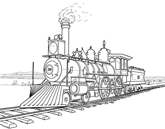 steam engines coloring pages - photo#14