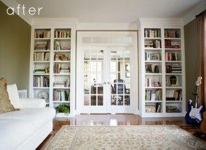 Excellent Built In Bookshelves  Ideas For Adding Bookshelves Around A Door