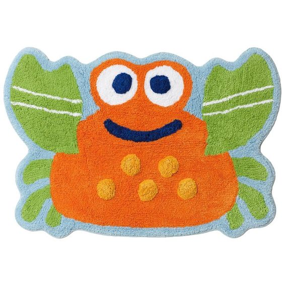 . Jumping Beans Fish Tales Crab Bath Rug 20 quot x30 quot  Cotton Machine Wash