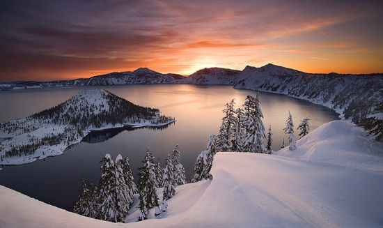 Winter- Crater Lake- Gorgeous in the summer as well.