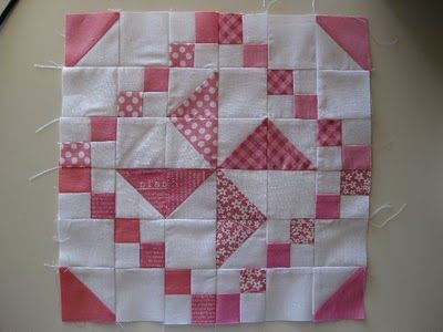 "Pinwheel with tutorial.  12"" block"