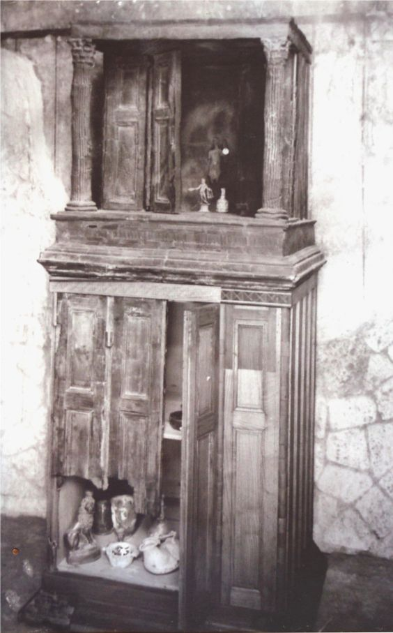 Roman Furniture from Herculaneum Wooden shrine from the