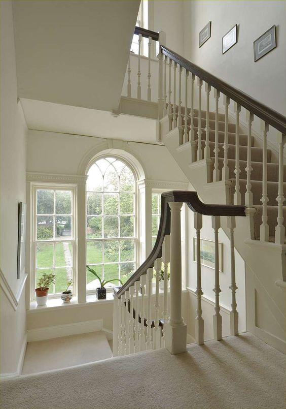Grand stair to a Georgian house #helyerdavies
