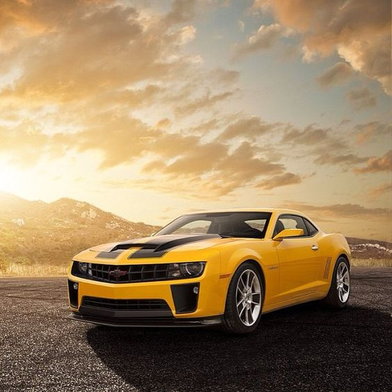 Stunning Chevrolet Camaro Car Known as bumble bee out of transformers.