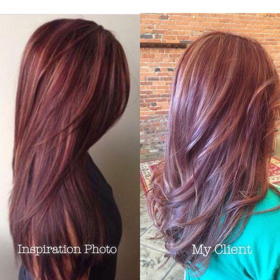 mahogany hair with caramel highlights mahogany hair with