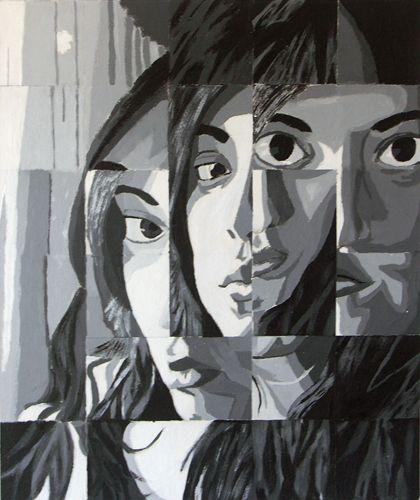 Fractured Portrait  http://studentwork.isabelmar.com/12/value.html: