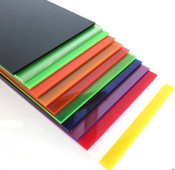 1pcs Color Transparent Acrylic Sheet Panel Plexiglass Plastic Plate A119 Colored Acrylic Sheets Plexiglass Sheets Acrylic Sheets