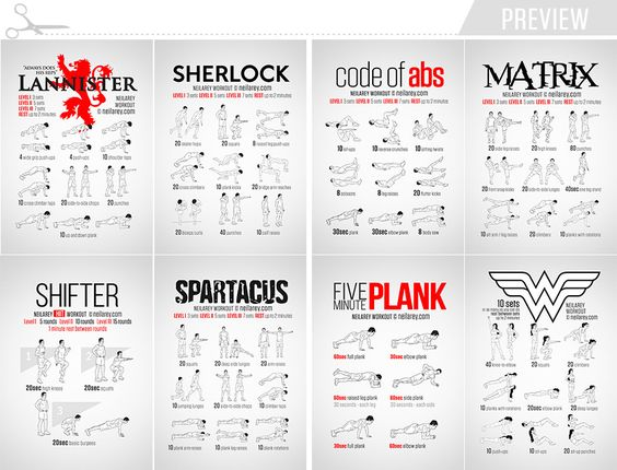 Workout Cards by Neila Rey / Preview