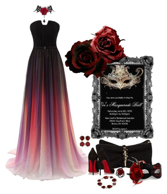 """""""Going to the Masquerade Ball"""" by nemesisktn ❤ liked on Polyvore featuring Masquerade, Dsquared2, Christian Louboutin and Annoushka"""