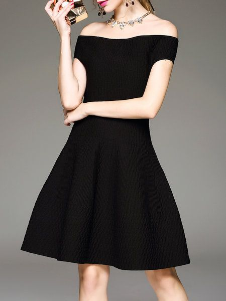 Shop Mini Dresses - Black Knitted Evening Wool Evening Dress online. Discover unique designers fashion at StyleWe.com.