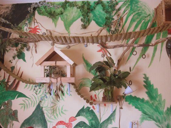 Catwalk and jungle painting Villa Vacht