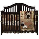 this crib is the right colour and shape, but no monkeys please. or bumpers.