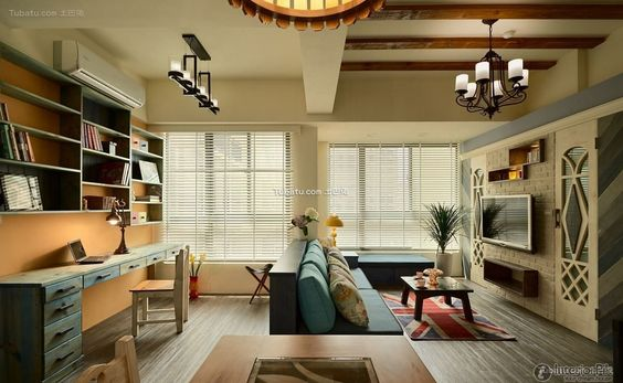American pastoral style living room design 2016