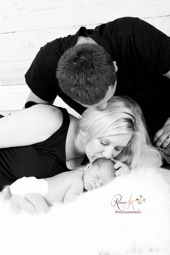 newborn with parents