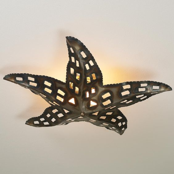 starfish ceiling light bronze even better for the mermaid bathroom. Black Bedroom Furniture Sets. Home Design Ideas