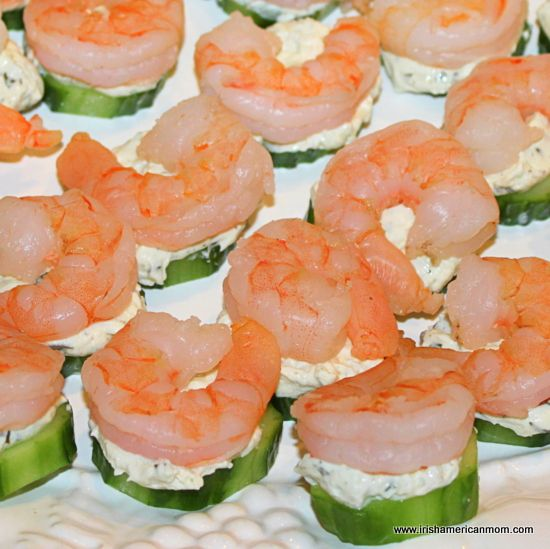 Food Ideas With Shrimp: Easy Shrimp And Cucumber Appetizers