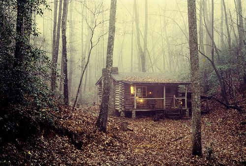 log cabin in Tennessee