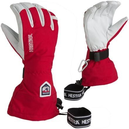 Red and White Hestra Winter Gloves  - Outfitters, Grouse Mountain, Vancouver - Pin It To Win It Contest