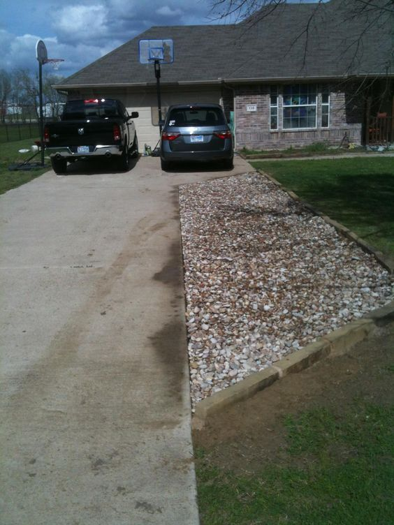 I needed to extend my driveway so instead of using for Driveway addition ideas