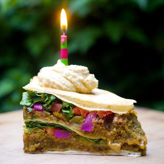Falafels, Gluten free flatbread and Cakes