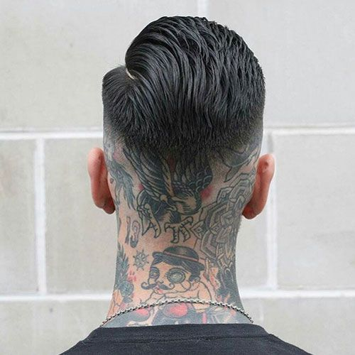 101 Best Neck Tattoos For Men Cool Designs Ideas 2019 Guide In 2020 Mid Fade Haircut Fade Haircut Hair Styles