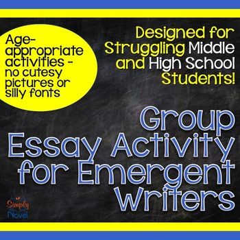 essay writing group activities