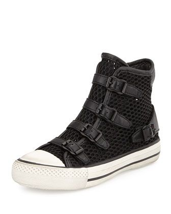 Vanessa Mesh High-Top Sneaker, Black by Ash at Neiman Marcus Last Call.