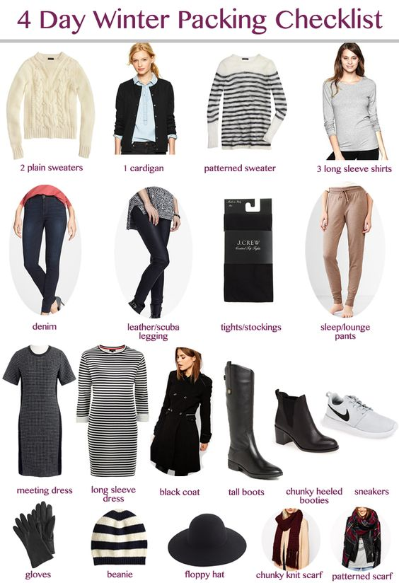 Winter packing packing checklist and packing lists on for New york city day trip ideas