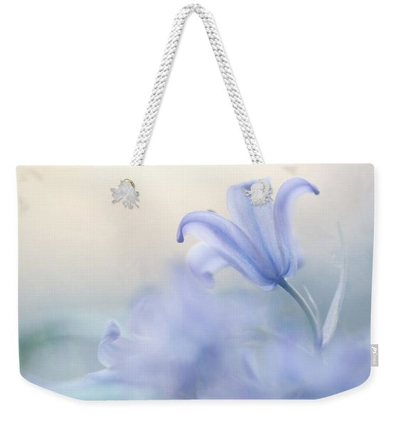 Flower Weekender Tote Bag featuring the photograph Aethereal Blue by Jenny Rainbow