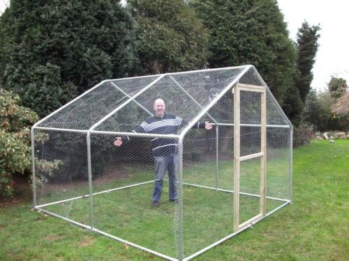 Chicken run 3m x 3m 10ft x 10ft large walk in coop for Chicken run plans