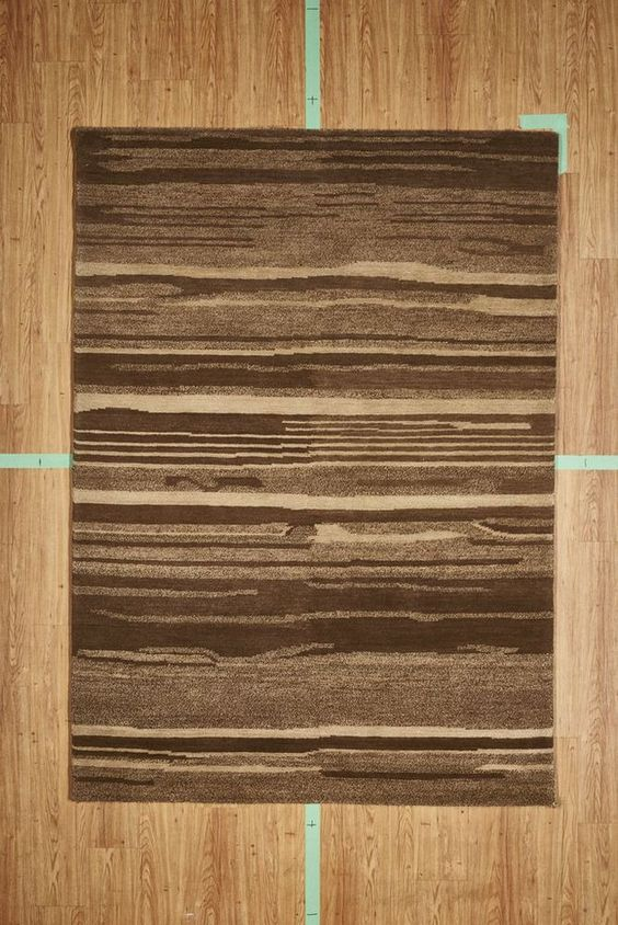 "5' 3"" x 7' 7"" Brown Stripes Contemporary Handloom Area Rug Modern"