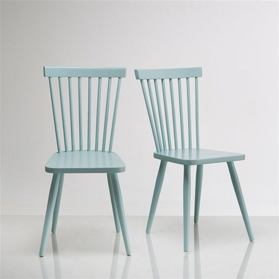 chaise barreaux bouleau massif jimi lot de 2 la redoute interieurs prix avis notation. Black Bedroom Furniture Sets. Home Design Ideas