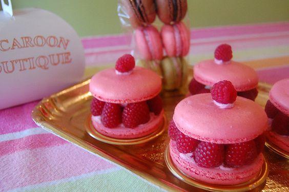 Raspberry Shortcake Pink Macaroons