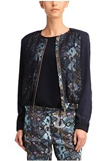 Bomber jacket 'Opatta-W' in viscose blend, Patterned