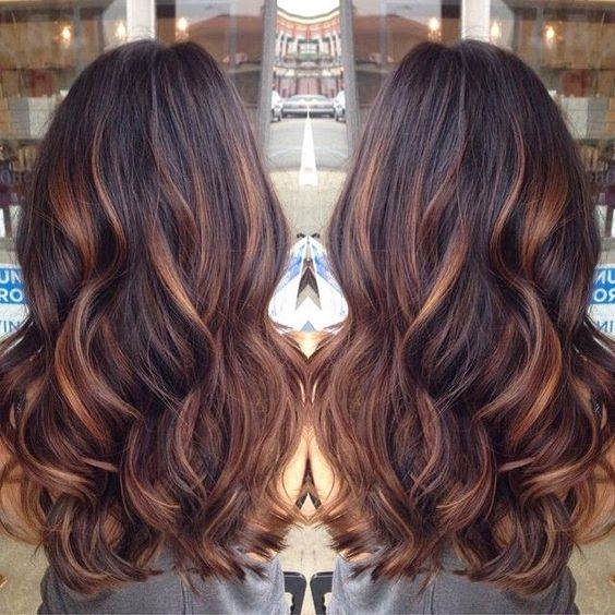 Top 20 Best Balayage Hairstyles for Natural Brown  Black Hair Color ,