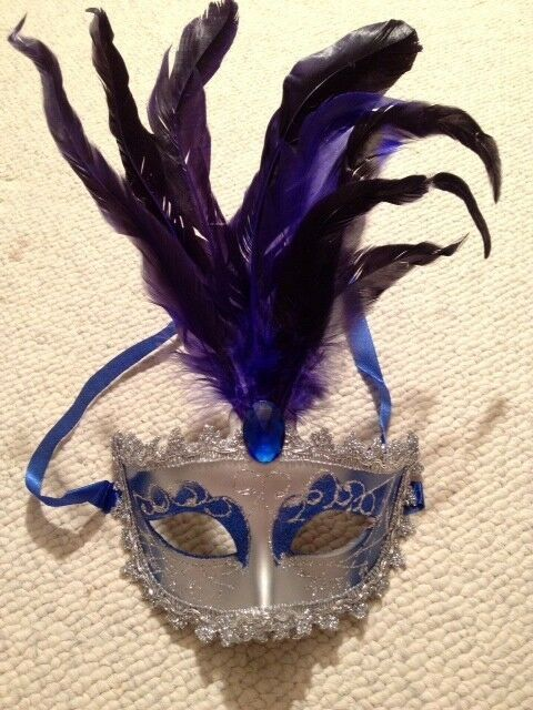 Mardi Gras Masquerade Halloween feather mask favor weddings Venetian masks party