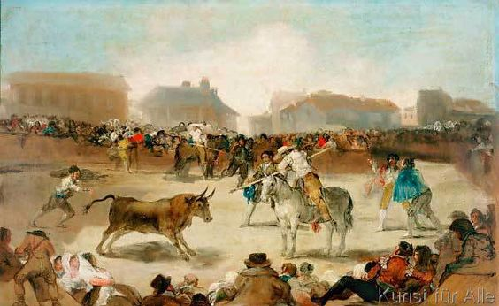 Francisco Jose de Goya y Lucientes - Stierkampf in einem Dorf