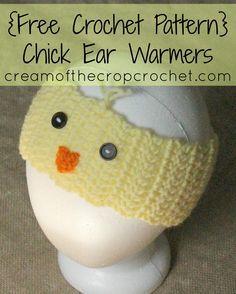 Cream of the Crop Crochet ~Chick Ear Warmers {free #crochet pattern} #handmade