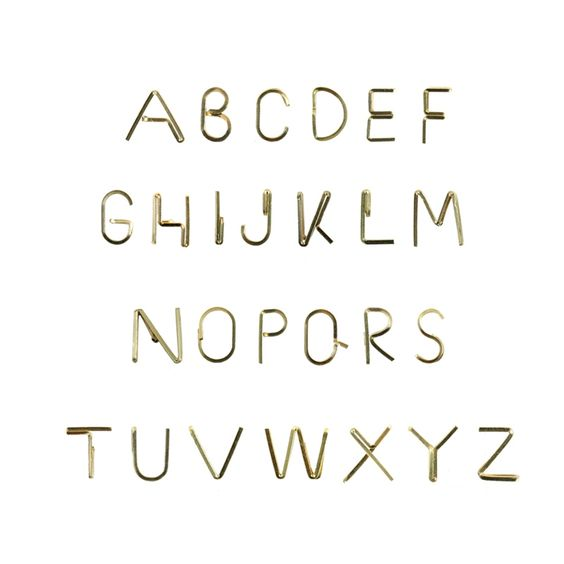 14K alphabet earrings from http://www.byboe.com/alfabet-earrings.html