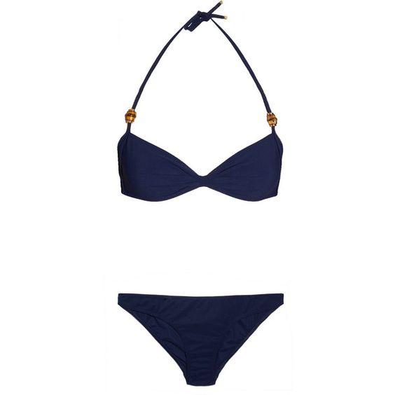 Gucci Bamboo-embellished triangle bikini ❤ liked on Polyvore
