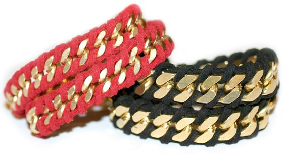 DIY Rope Wrapped Chain Bracelet #DIY
