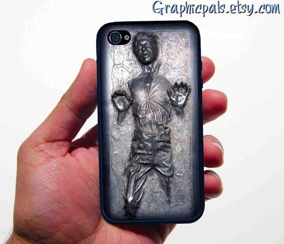 iphone 4 4s case Han Solo in Carbonite STAR WARS par Graphicpals