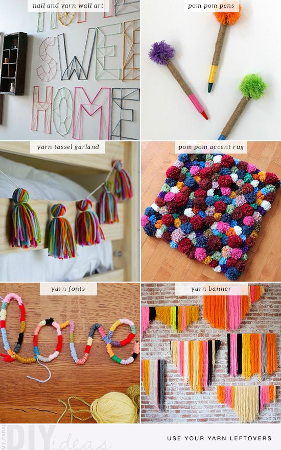 6 no knit yarn diys diys tutorials and dorm - Muttertagsgeschenke diy ...