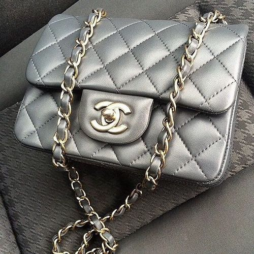 grey quilted chanel. #bagporn